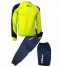 ΦΟΡΜΑ ΠΡΟΠΟΝΗΣΗΣ ZEUS TUTA TRAINING TRIS NAPOLI BLUE/YELLOW FLUO